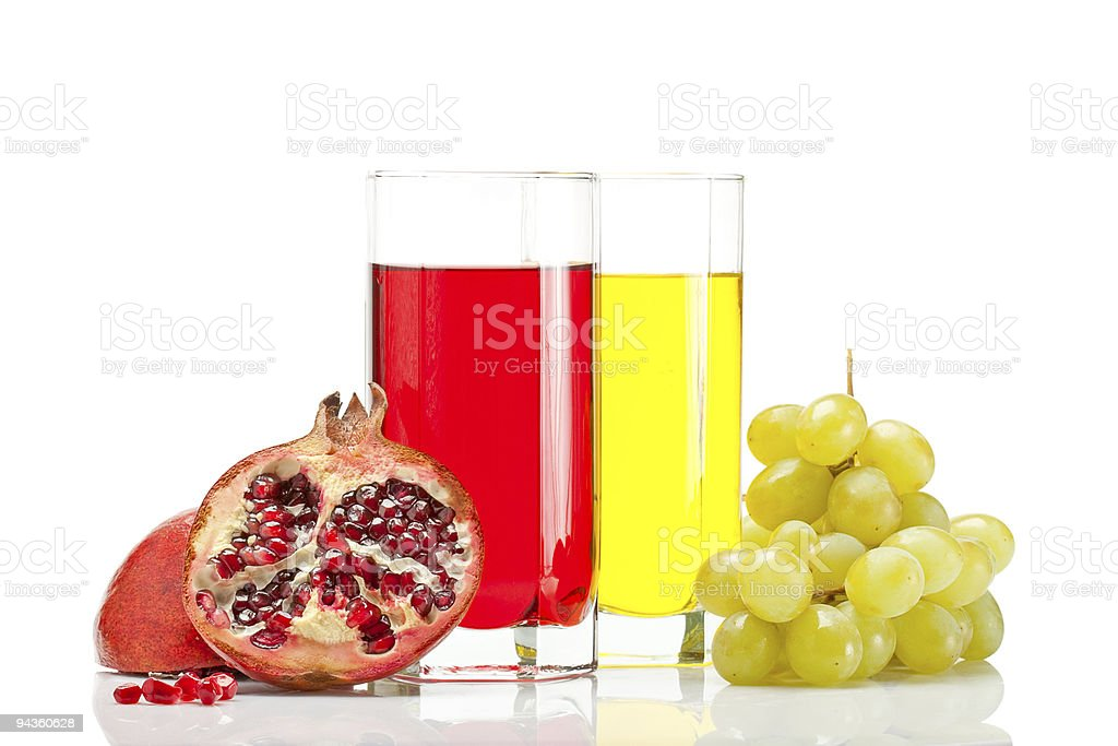 grape and pomegranate royalty-free stock photo