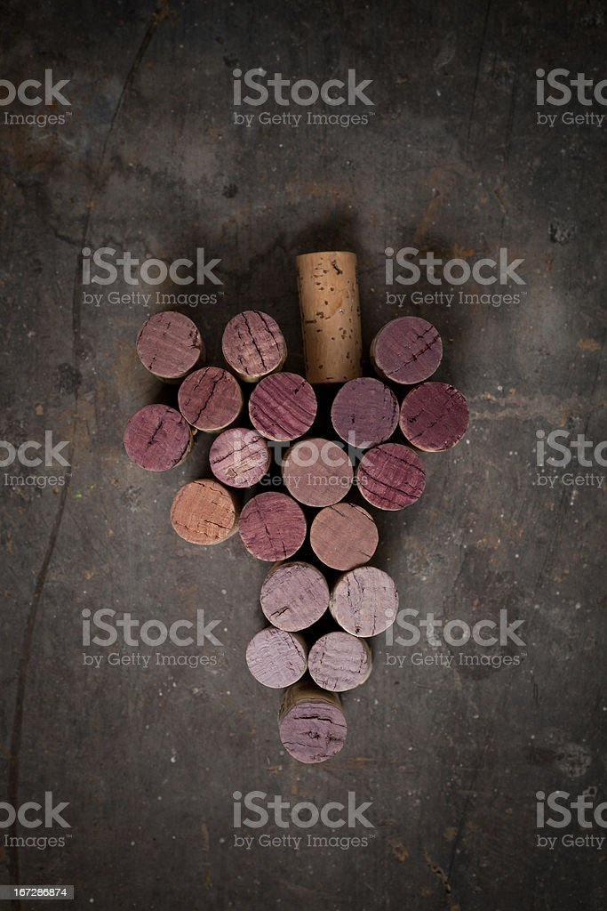 Grape corks arranged in a pile stock photo