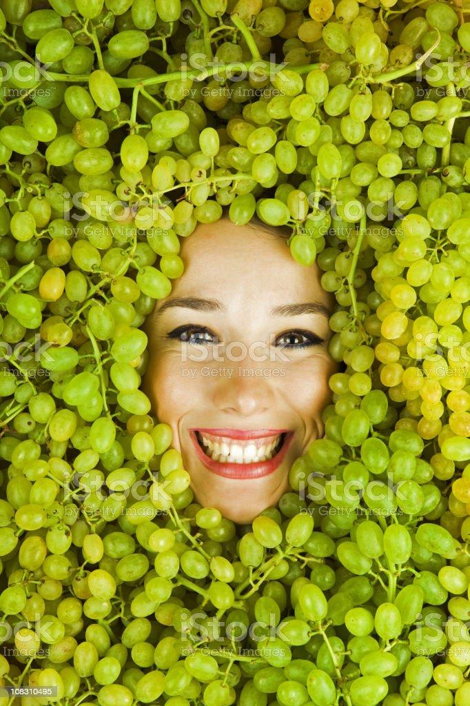 Grape Girl royalty-free stock photo
