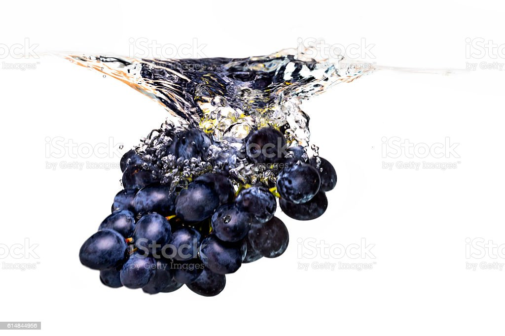 Grape in water stock photo