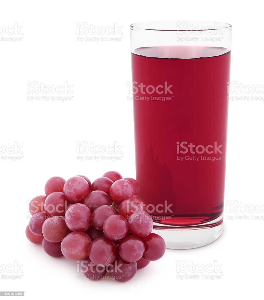 Grape Juice (with path) stock photo