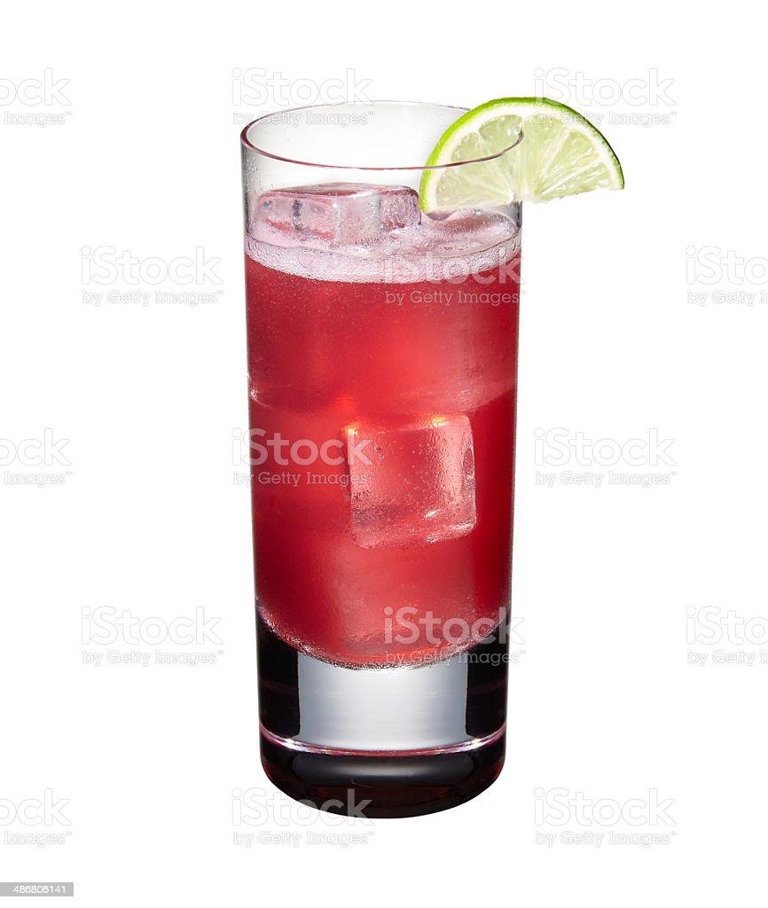 Grape Juice Rickey Cocktail stock photo