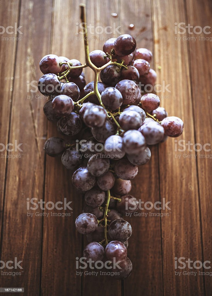 grape on wood royalty-free stock photo