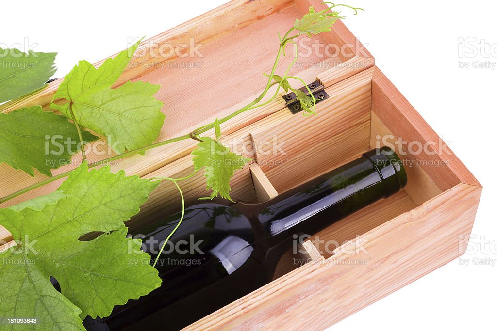 grape plant and Red Wine isolated on white background royalty-free stock photo