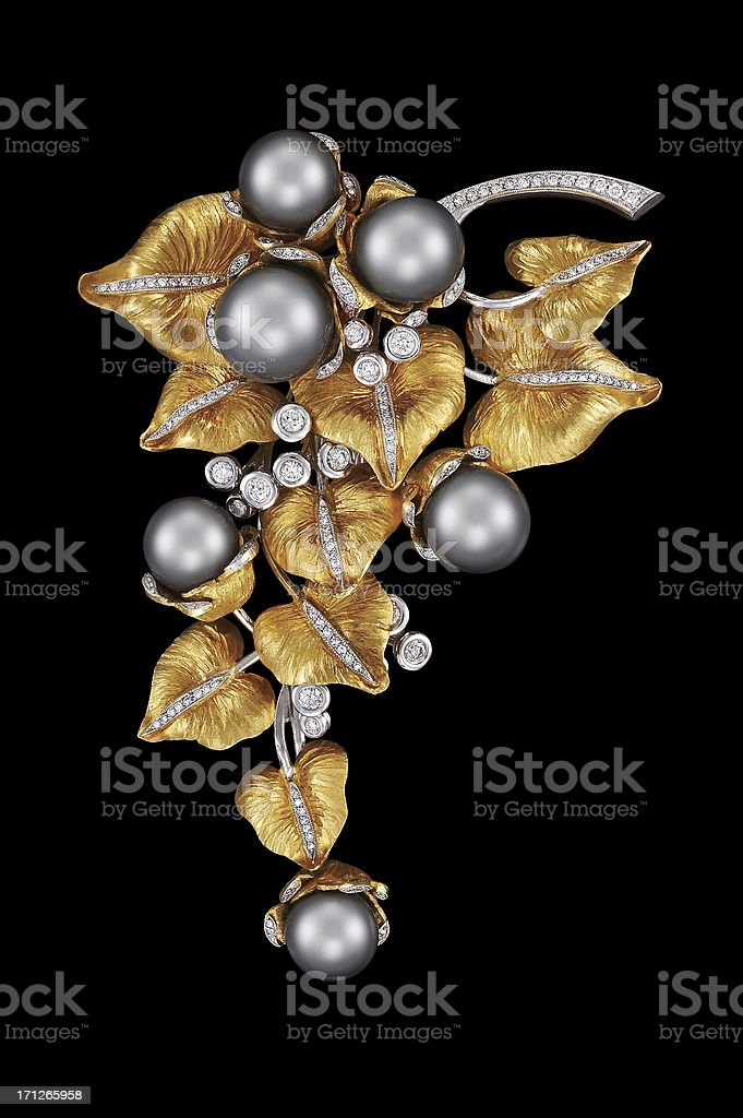 Grape shape Brooch stock photo