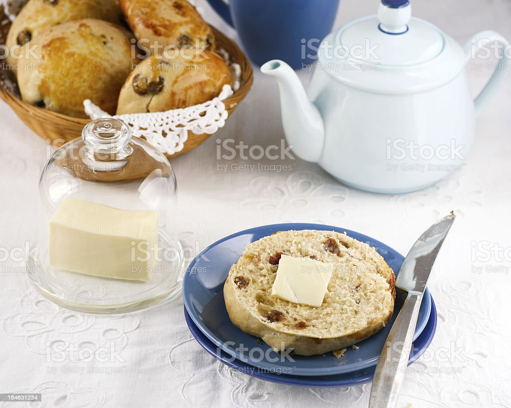 Raisin teacakes royalty-free stock photo