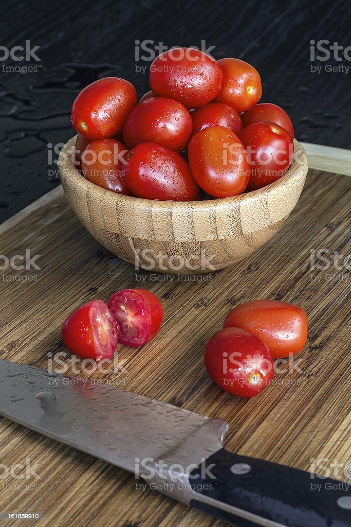 Grape Tomato Bowl stock photo