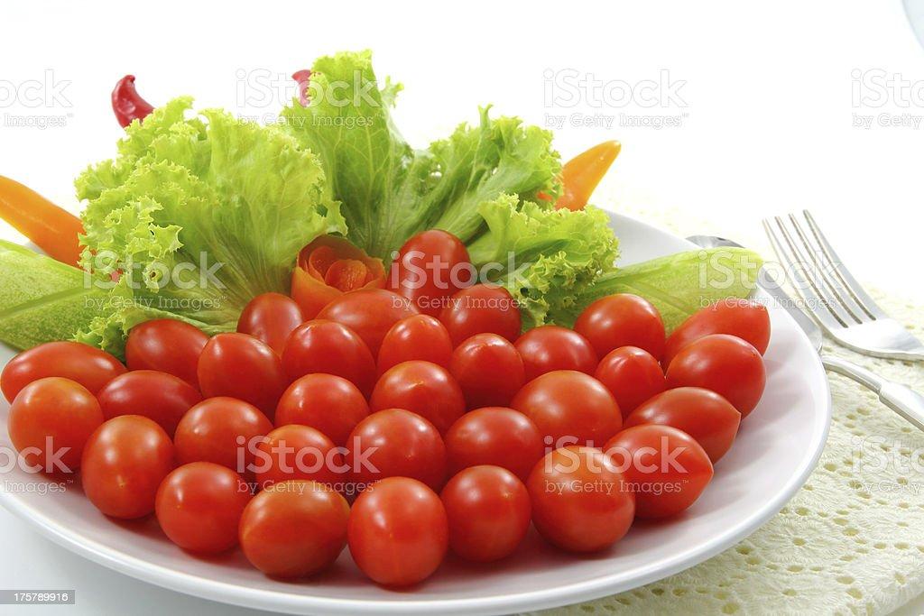 Grape tomato. stock photo