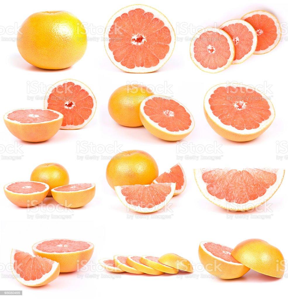grapefriut collection stock photo