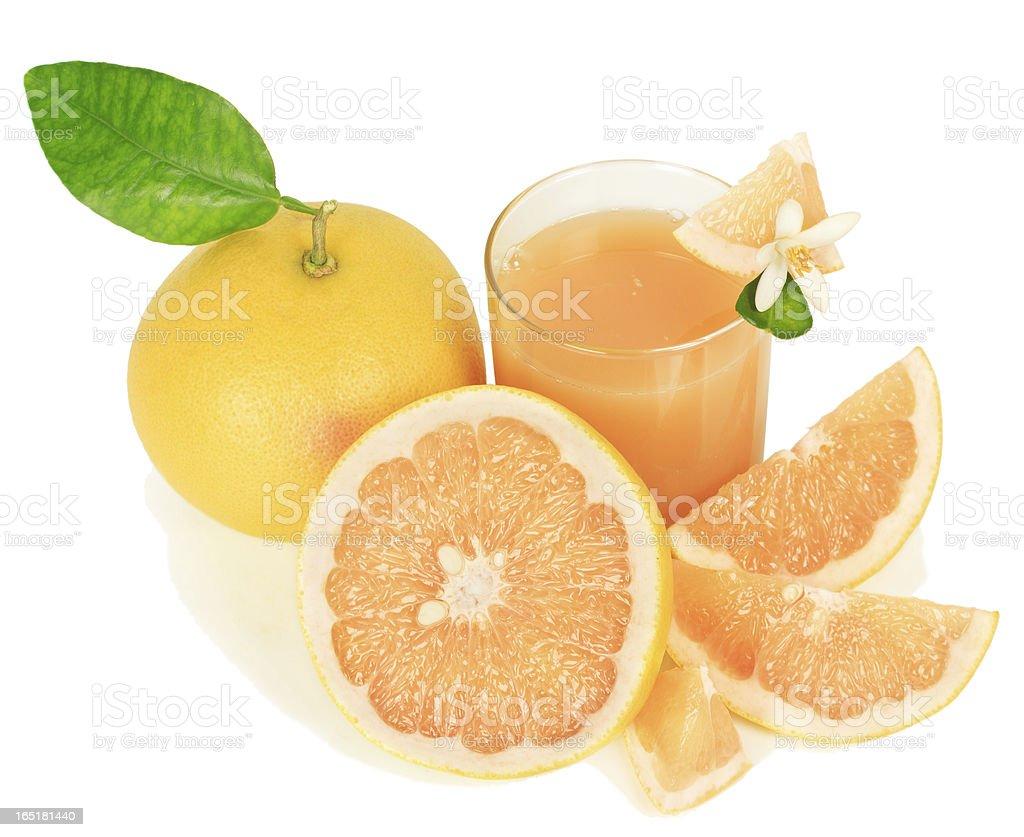 grapefruit and juice royalty-free stock photo