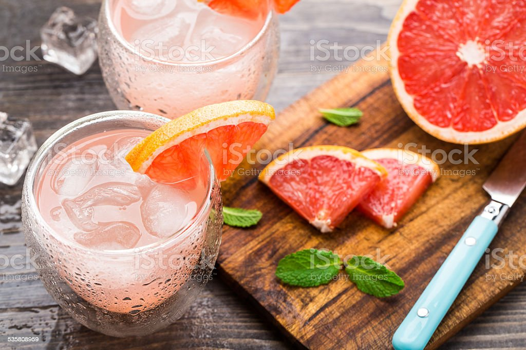 Grapefruit cocktail stock photo