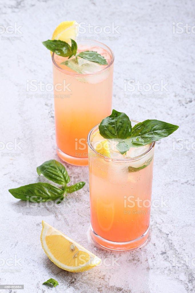 grapefruit drinks stock photo