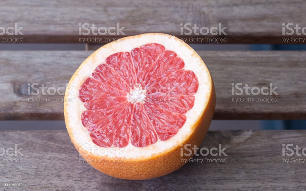 Grapefruit half stock photo