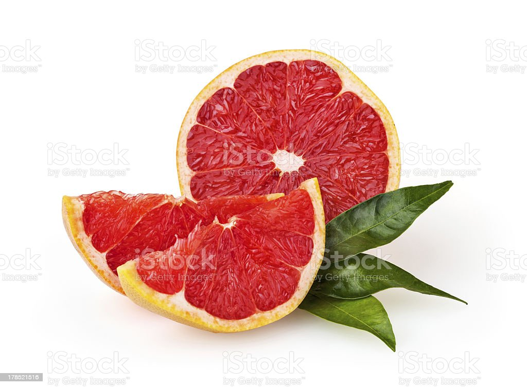 Grapefruit isolated on white background + clipping path royalty-free stock photo