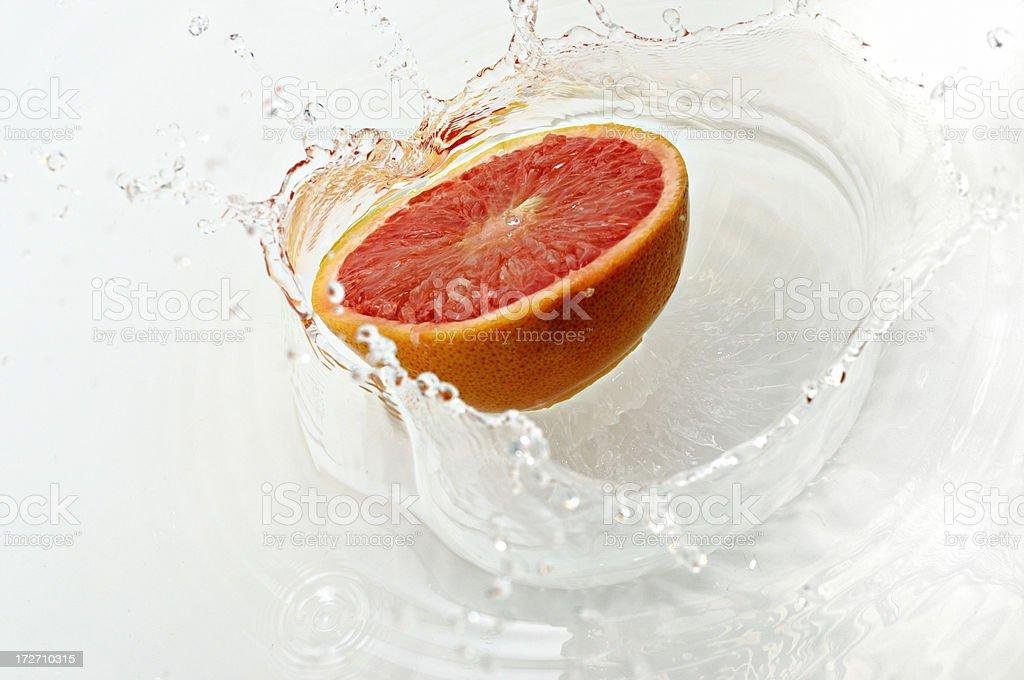 grapefruit platsch royalty-free stock photo