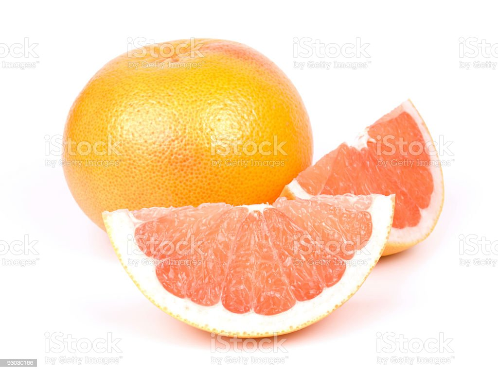 Grapefruit w clipping path royalty-free stock photo