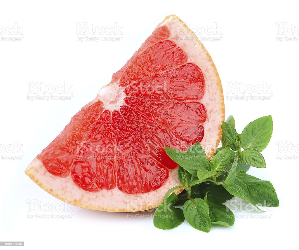 grapefruit  with mint stock photo