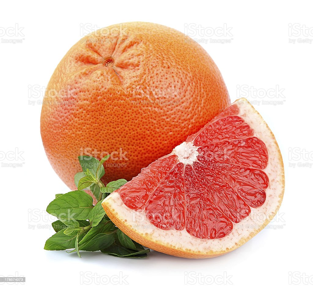 Grapefruit with mint royalty-free stock photo