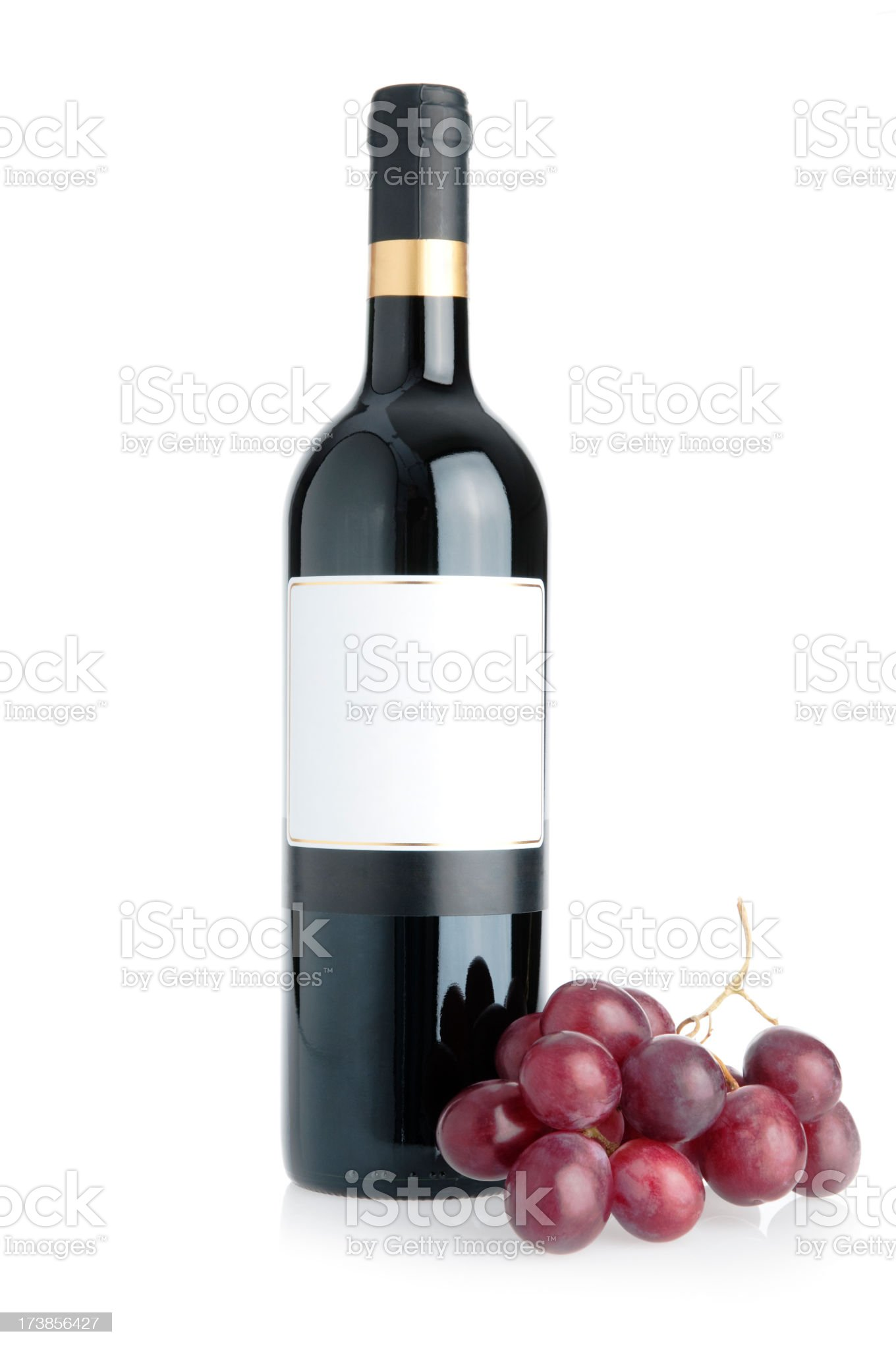 Grapes and bottle royalty-free stock photo
