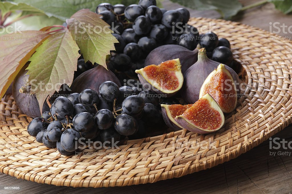 Grapes and figs royalty-free stock photo