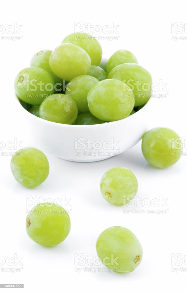 Grapes and White Bowl Two stock photo