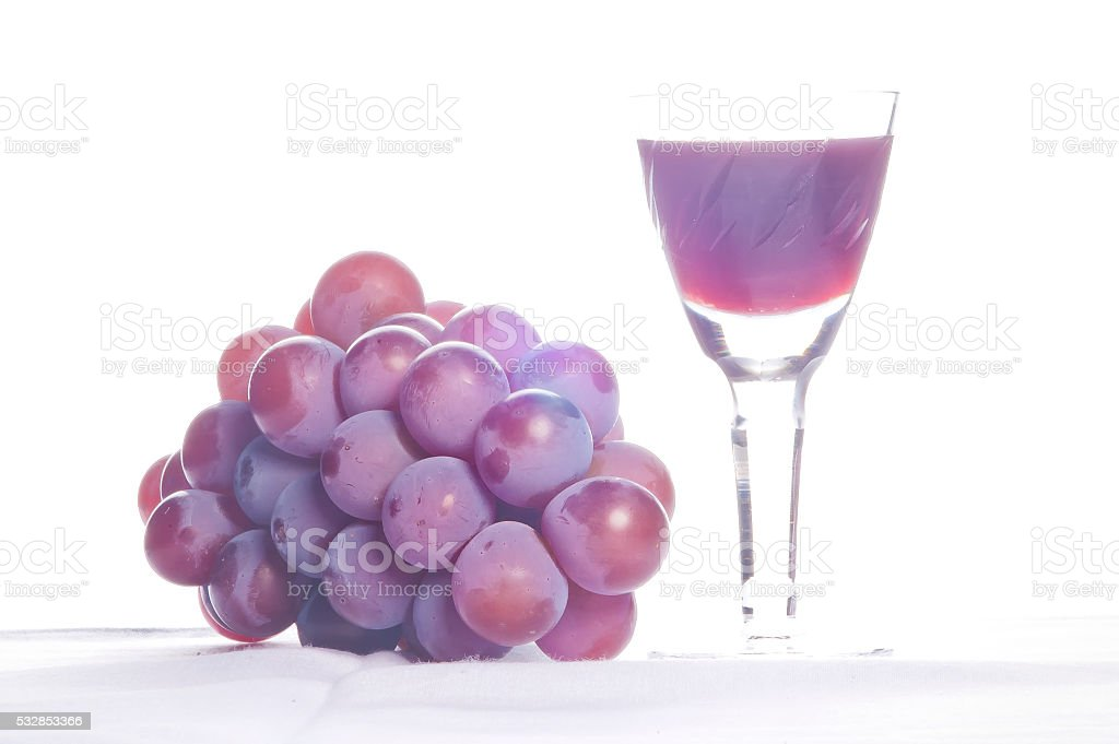Grapes and Wine high key stock photo