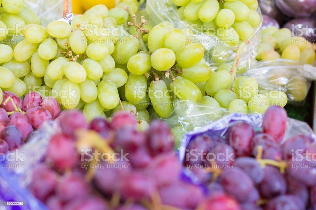 Grapes bin Borough Market, London royalty-free stock photo