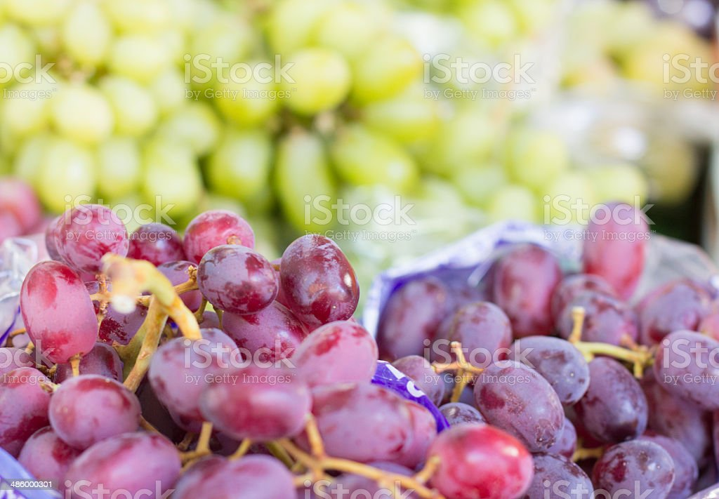 Grapes in Borough Market, London royalty-free stock photo