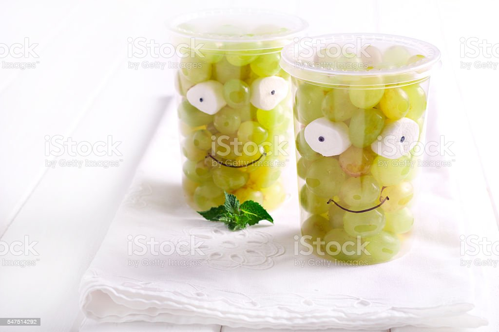 Grapes in cups stock photo