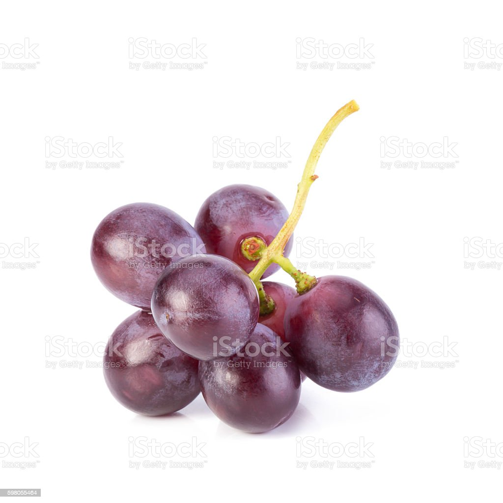 grapes isolated on over white background stock photo