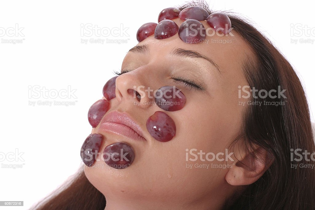 grapes mask royalty-free stock photo