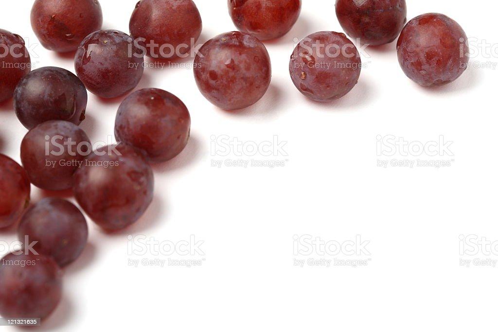 Grapes on white background stock photo