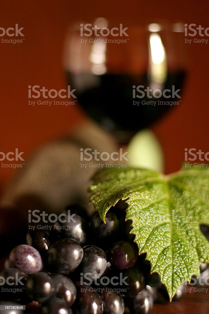 Grapes & Wine royalty-free stock photo