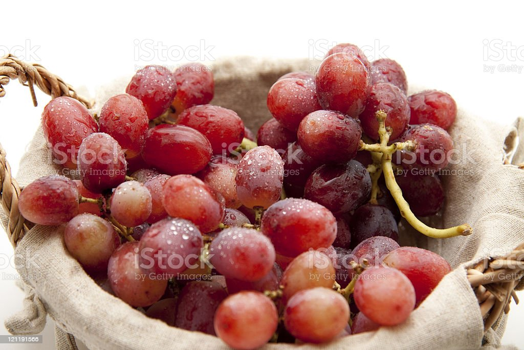Grapes with water drops stock photo