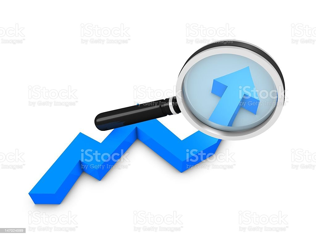 Graph analysis stock photo