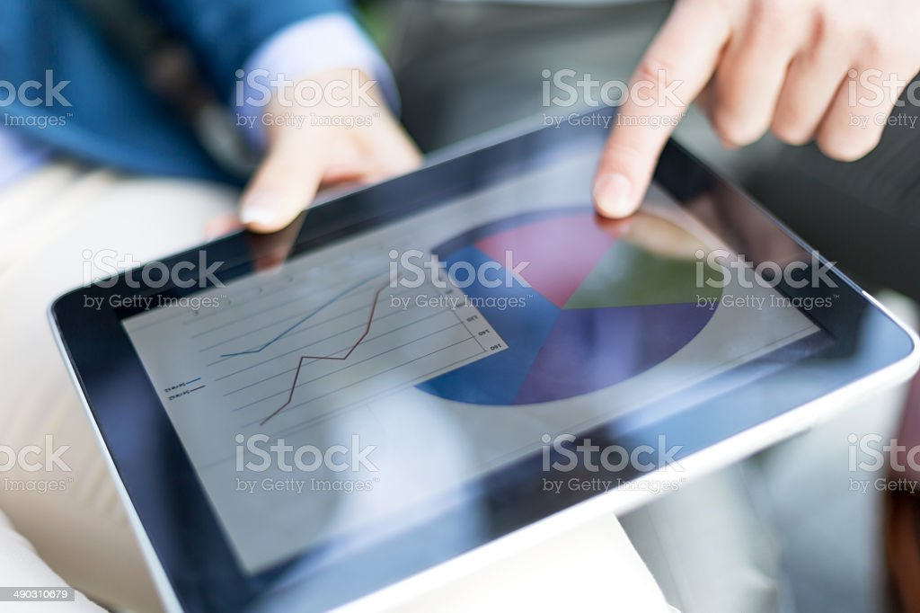 Graph and chart stock photo