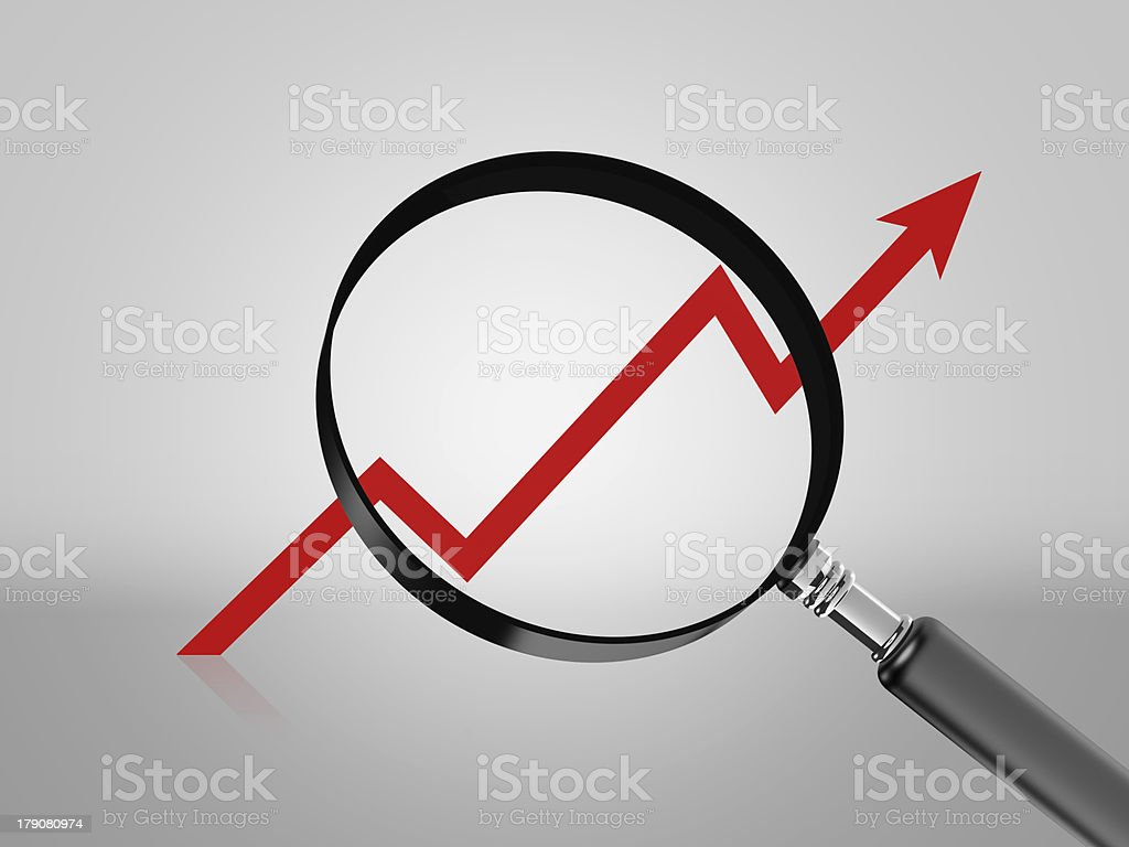 Graph Arrow Move Up royalty-free stock photo