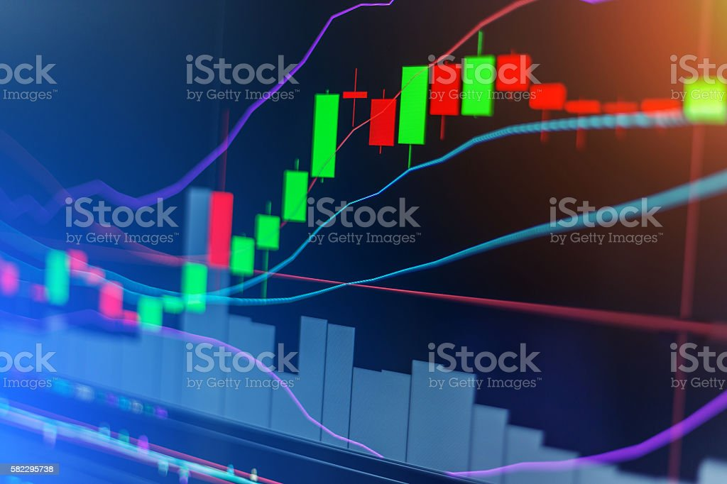graph chart of stock market investment trading stock photo