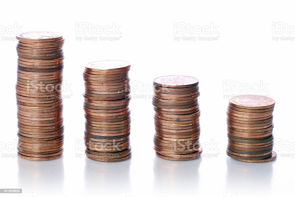 Graph Coin royalty-free stock photo