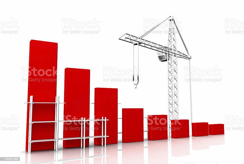 Graph, diagram royalty-free stock photo