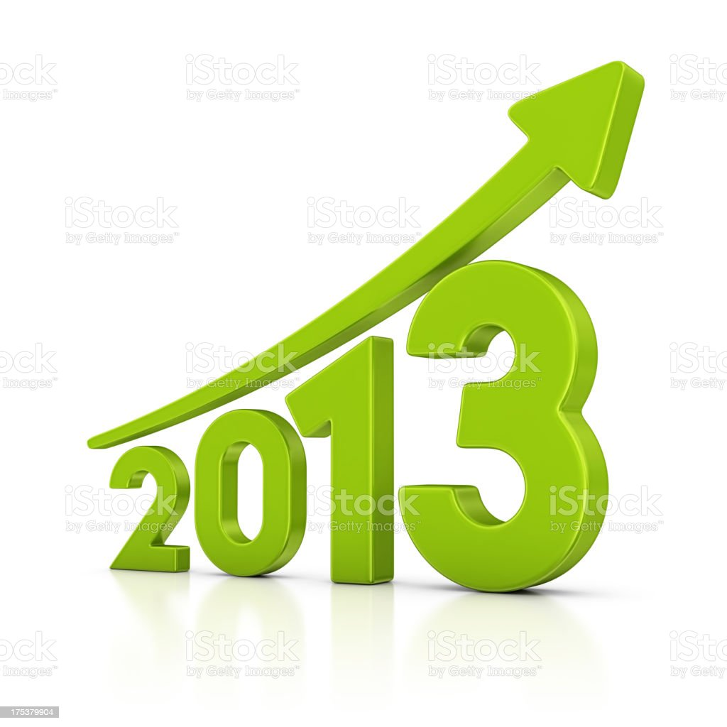 graph for 2013 royalty-free stock photo