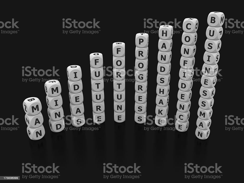 graph from man to businessman royalty-free stock photo