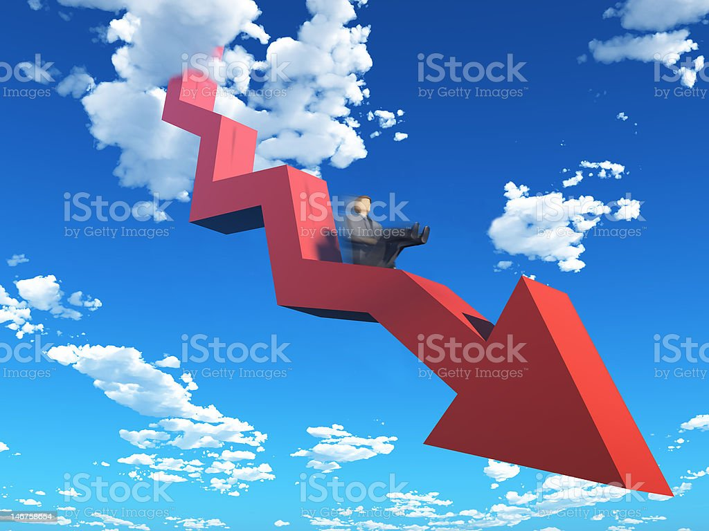 graph go down royalty-free stock photo