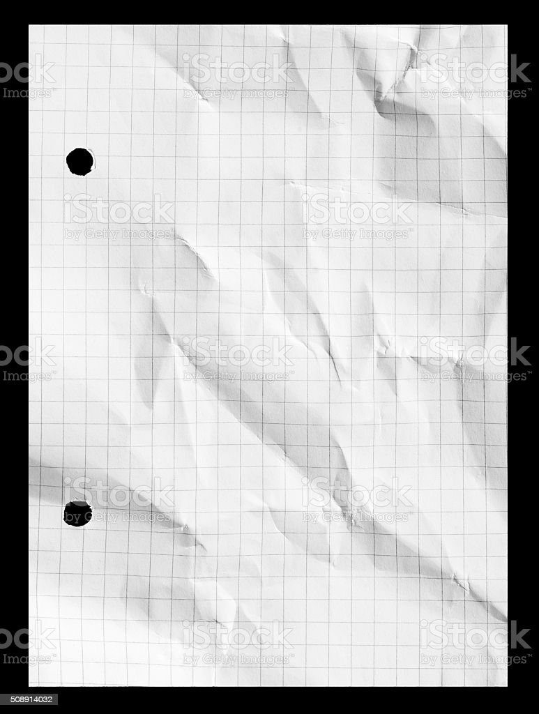 Graph grid notebook squared paper with copy space stock photo