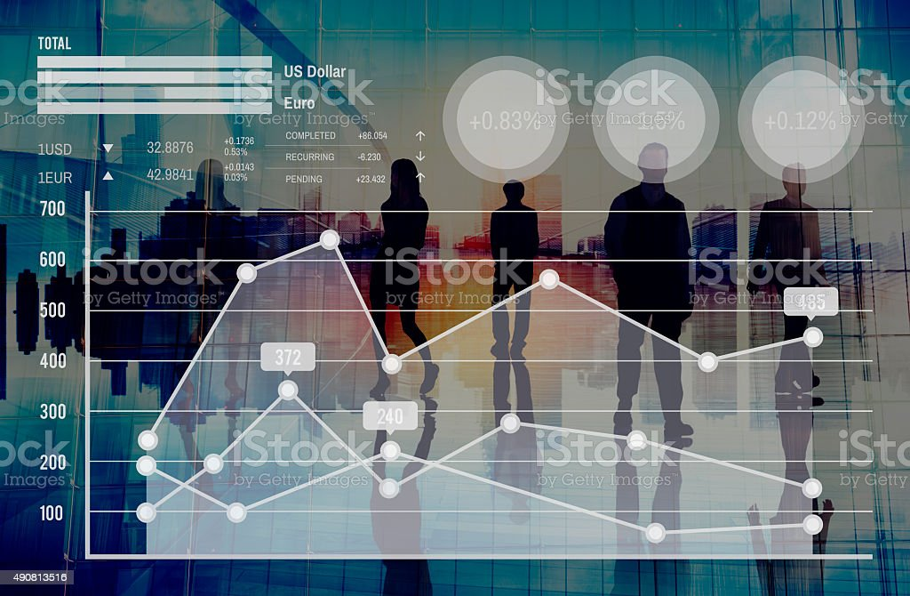 Graph Growth Finance Stock Market Currency Analysis Concept stock photo