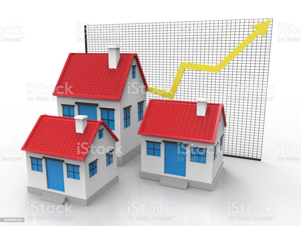 Graph House stock photo