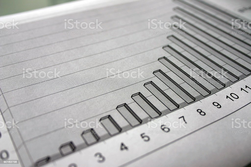 Graph indicating success royalty-free stock photo