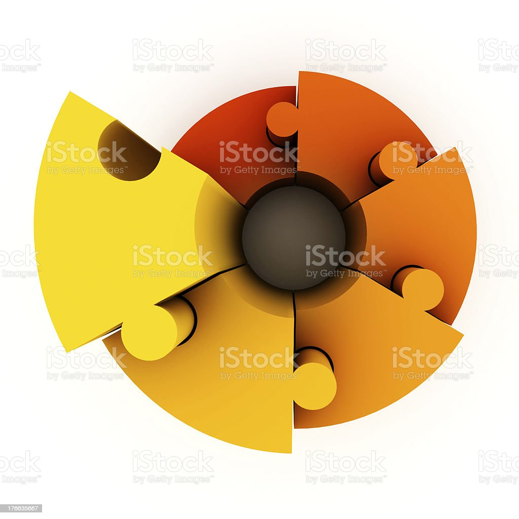 Graph made of puzzle royalty-free stock photo