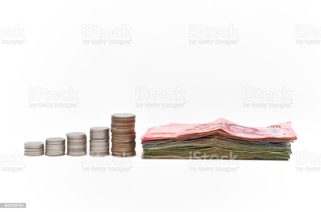 graph money.It represents a profitable investment that continues to grow. stock photo
