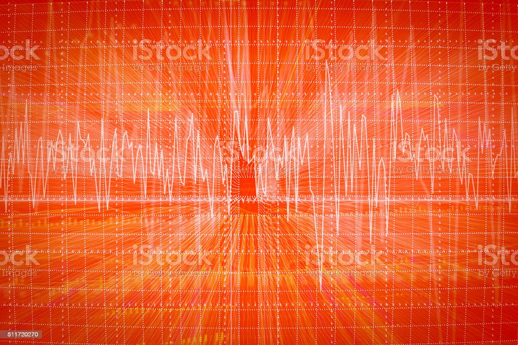 graph of heart beats on Healthcare and Medical stock photo
